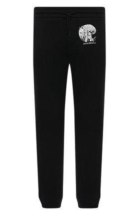 Мужские хлопковые джоггеры EMPORIO ARMANI черного цвета, арт. 3K1P8P/1JM3Z | Фото 1