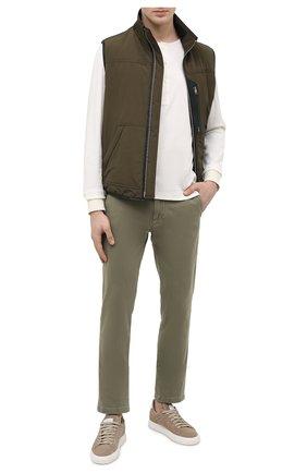 Мужские хлопковые брюки 7 FOR ALL MANKIND хаки цвета, арт. JSU9T490LA | Фото 2