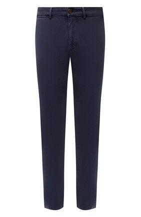 Мужские хлопковые брюки 7 FOR ALL MANKIND темно-синего цвета, арт. JSU9T490NV | Фото 1