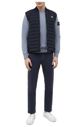 Мужские хлопковые брюки 7 FOR ALL MANKIND темно-синего цвета, арт. JSU9T490NV | Фото 2