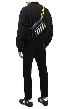 Мужская кожаная поясная сумка OFF-WHITE черного цвета, арт. 0MN0002R21LEA001 | Фото 2