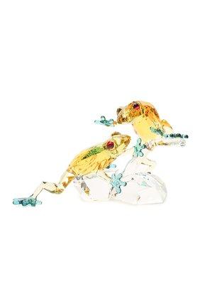 Скульптура frogs SWAROVSKI желтого цвета, арт. 5522680 | Фото 1