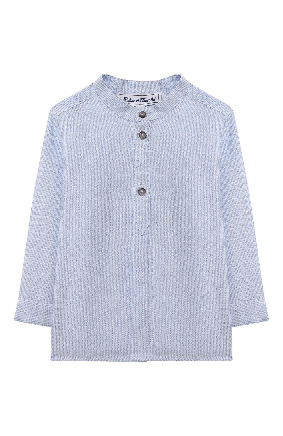 Детский хлопковая рубашка TARTINE ET CHOCOLAT светло-голубого цвета, арт. TS12081/18M-3A   Фото 1