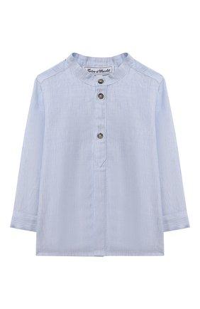 Детский хлопковая рубашка TARTINE ET CHOCOLAT светло-голубого цвета, арт. TS12081/18M-3A | Фото 1