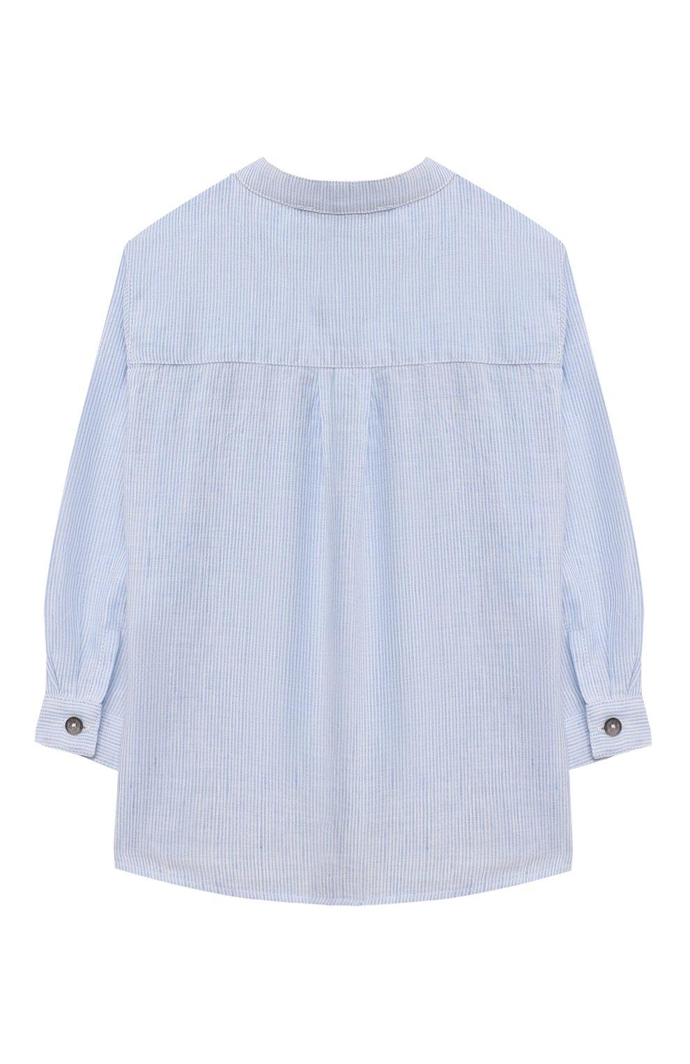 Детский хлопковая рубашка TARTINE ET CHOCOLAT светло-голубого цвета, арт. TS12081/18M-3A   Фото 2