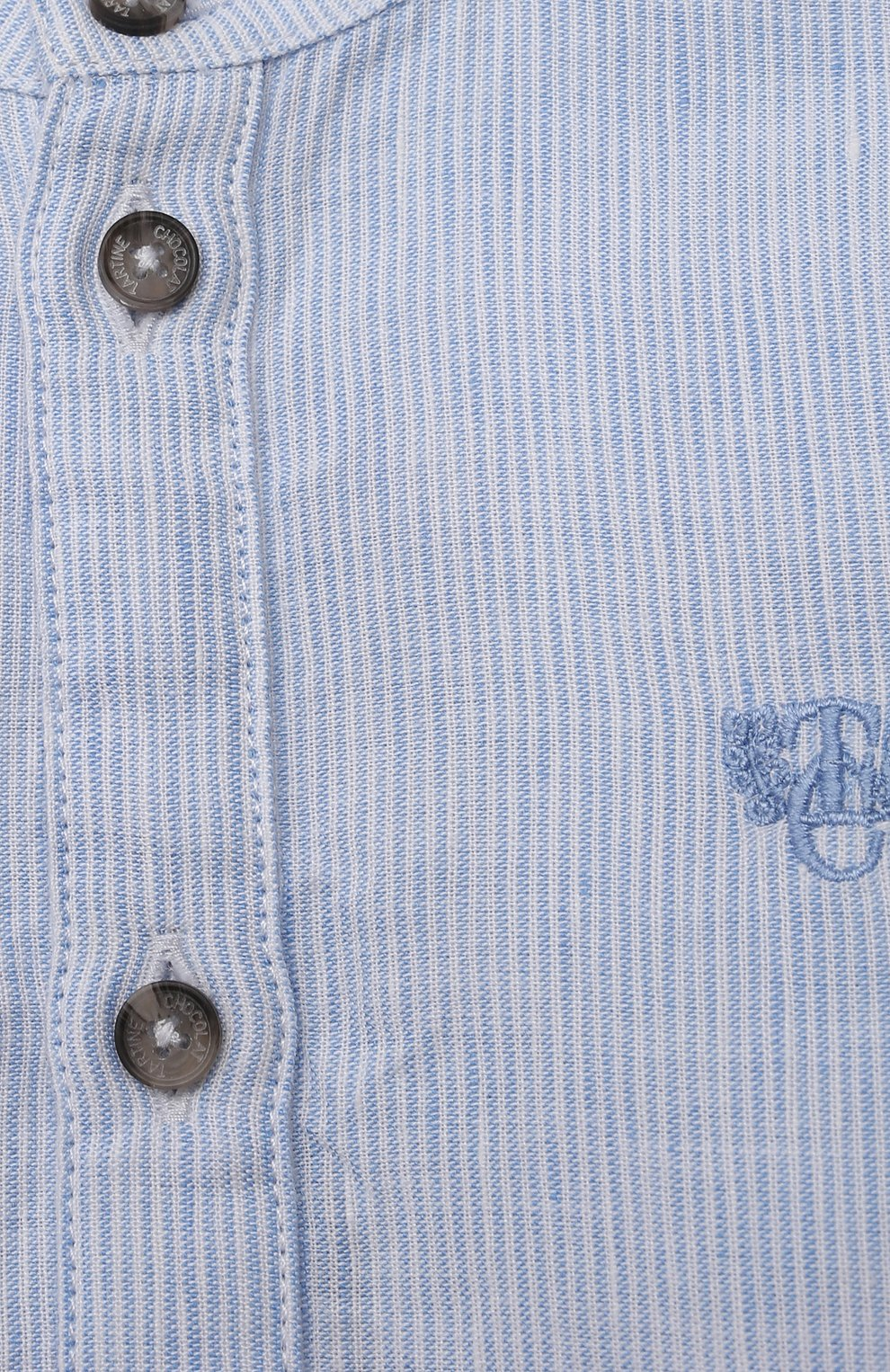Детский хлопковая рубашка TARTINE ET CHOCOLAT светло-голубого цвета, арт. TS12081/18M-3A   Фото 3