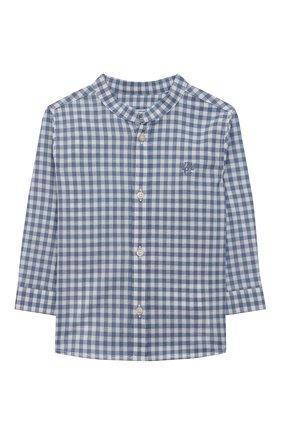 Детский хлопковая рубашка TARTINE ET CHOCOLAT синего цвета, арт. TS12141/1M-1A   Фото 1