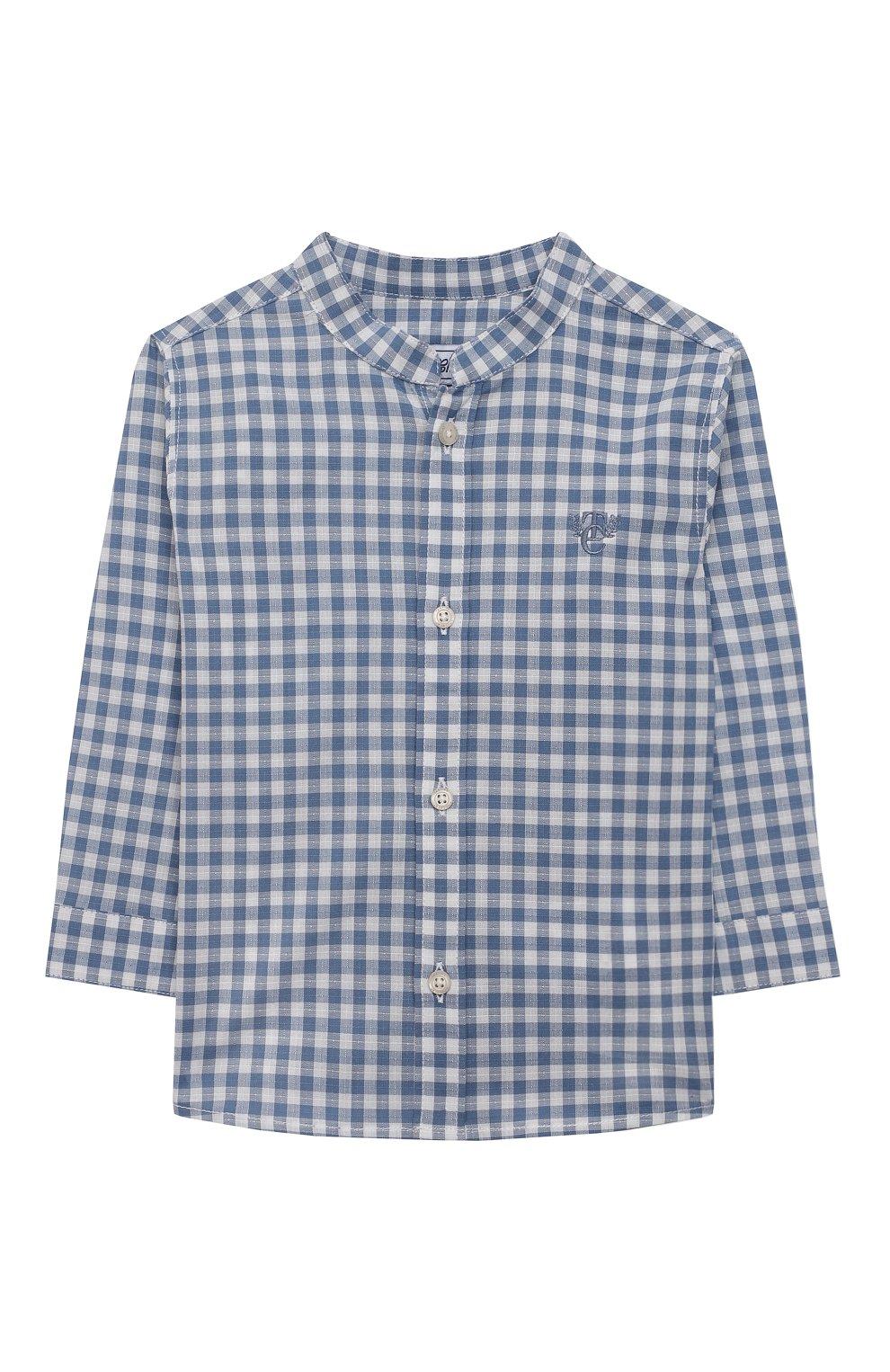 Детский хлопковая рубашка TARTINE ET CHOCOLAT синего цвета, арт. TS12141/18M-3A   Фото 1