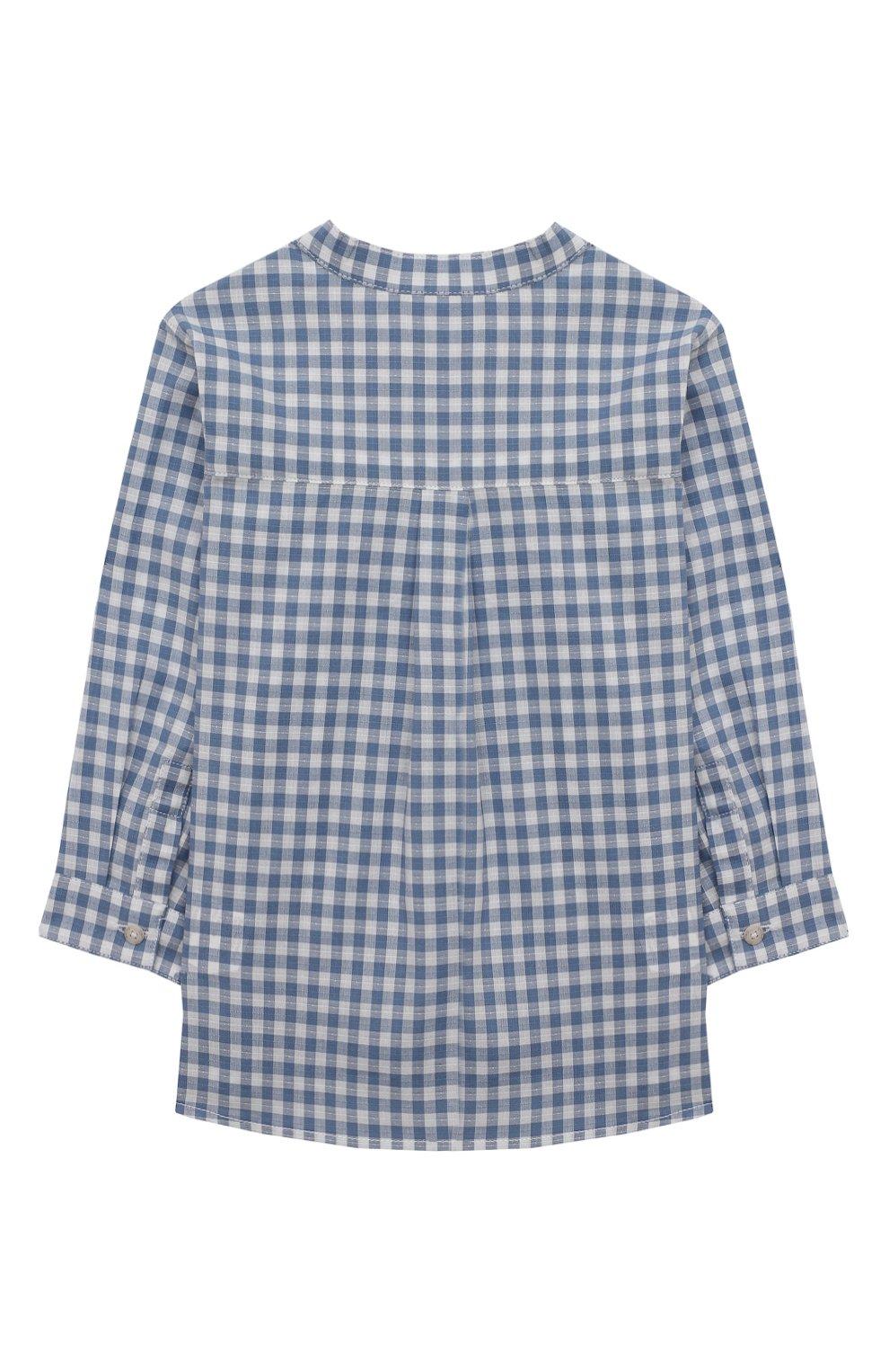 Детский хлопковая рубашка TARTINE ET CHOCOLAT синего цвета, арт. TS12141/18M-3A   Фото 2