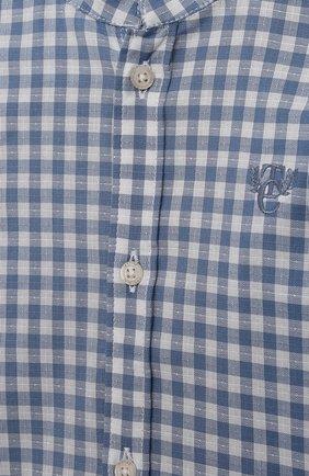 Детский хлопковая рубашка TARTINE ET CHOCOLAT синего цвета, арт. TS12141/18M-3A   Фото 3