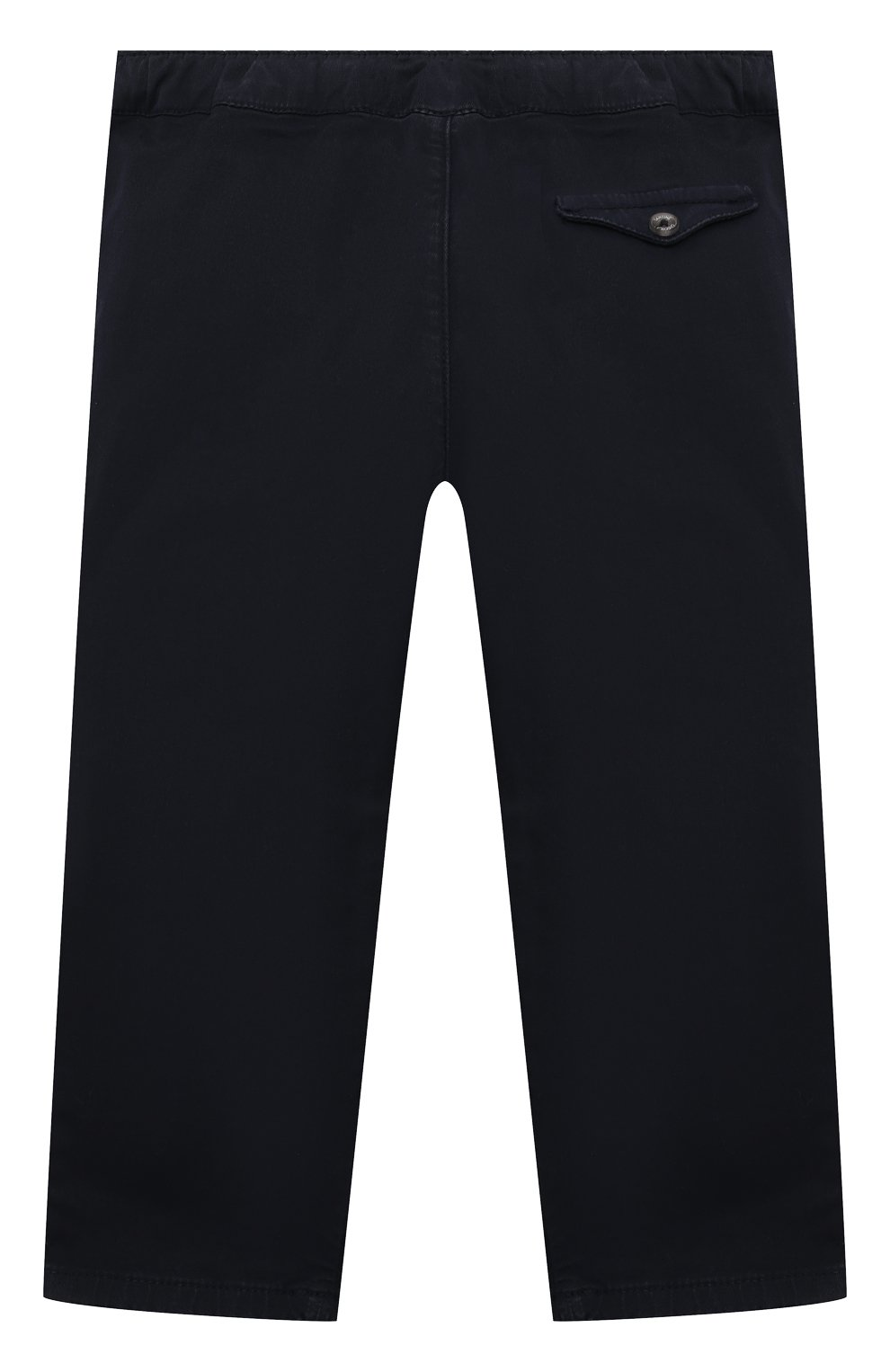 Детские хлопковые брюки TARTINE ET CHOCOLAT темно-синего цвета, арт. TS22051/18M-3A | Фото 2 (Материал внешний: Хлопок; Ростовка одежда: 18 мес | 86 см, 24 мес | 92 см, 36 мес | 98 см)