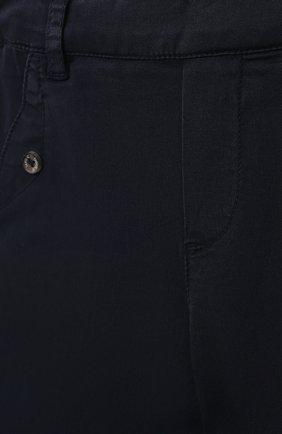 Детские хлопковые брюки TARTINE ET CHOCOLAT темно-синего цвета, арт. TS22051/18M-3A | Фото 3 (Материал внешний: Хлопок; Ростовка одежда: 18 мес | 86 см, 24 мес | 92 см, 36 мес | 98 см)