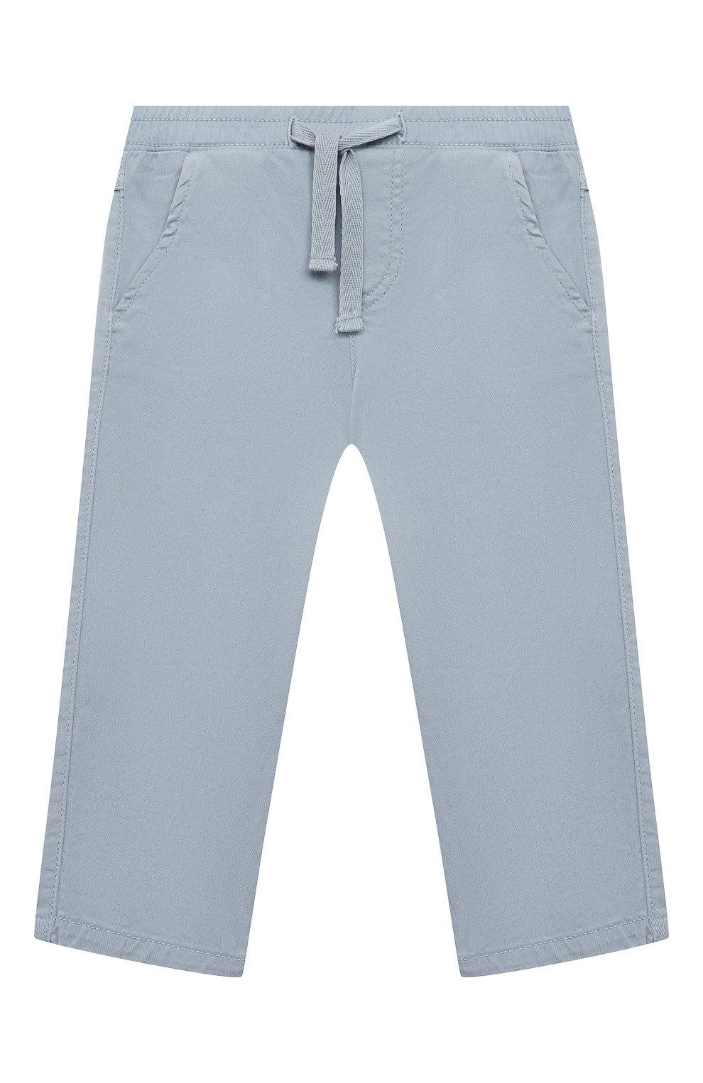 Детские хлопковые брюки TARTINE ET CHOCOLAT голубого цвета, арт. TS22061/1M-1A   Фото 1