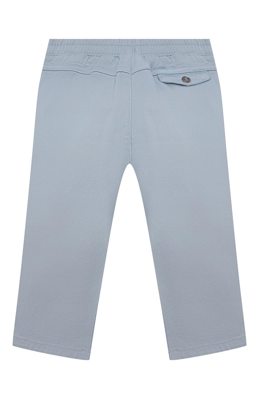 Детские хлопковые брюки TARTINE ET CHOCOLAT голубого цвета, арт. TS22061/1M-1A   Фото 2