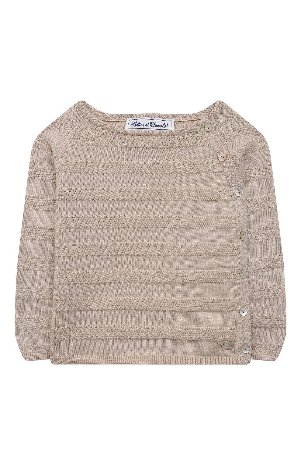 Детский комплект из пуловера и брюк TARTINE ET CHOCOLAT бежевого цвета, арт. TS36011/1M-1A | Фото 2