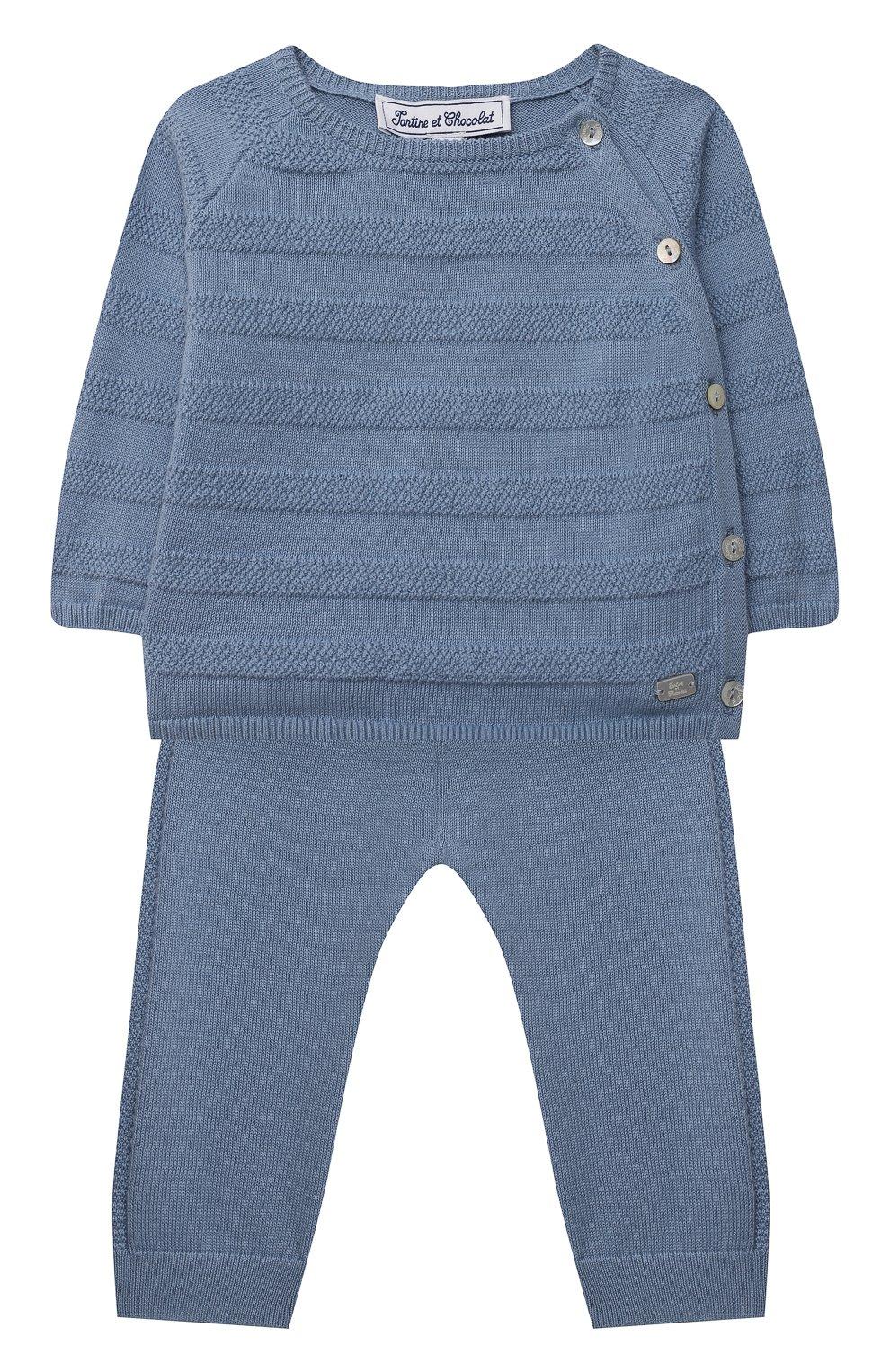 Детский комплект из пуловера и брюк TARTINE ET CHOCOLAT синего цвета, арт. TS36011/1M-1A   Фото 1