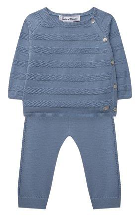 Детский комплект из пуловера и брюк TARTINE ET CHOCOLAT синего цвета, арт. TS36011/1M-1A | Фото 1