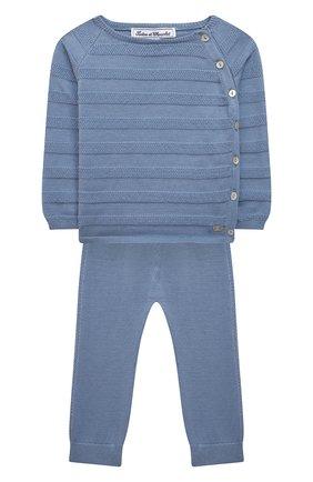 Детский комплект из пуловера и брюк TARTINE ET CHOCOLAT синего цвета, арт. TS36011/18M-3A | Фото 1