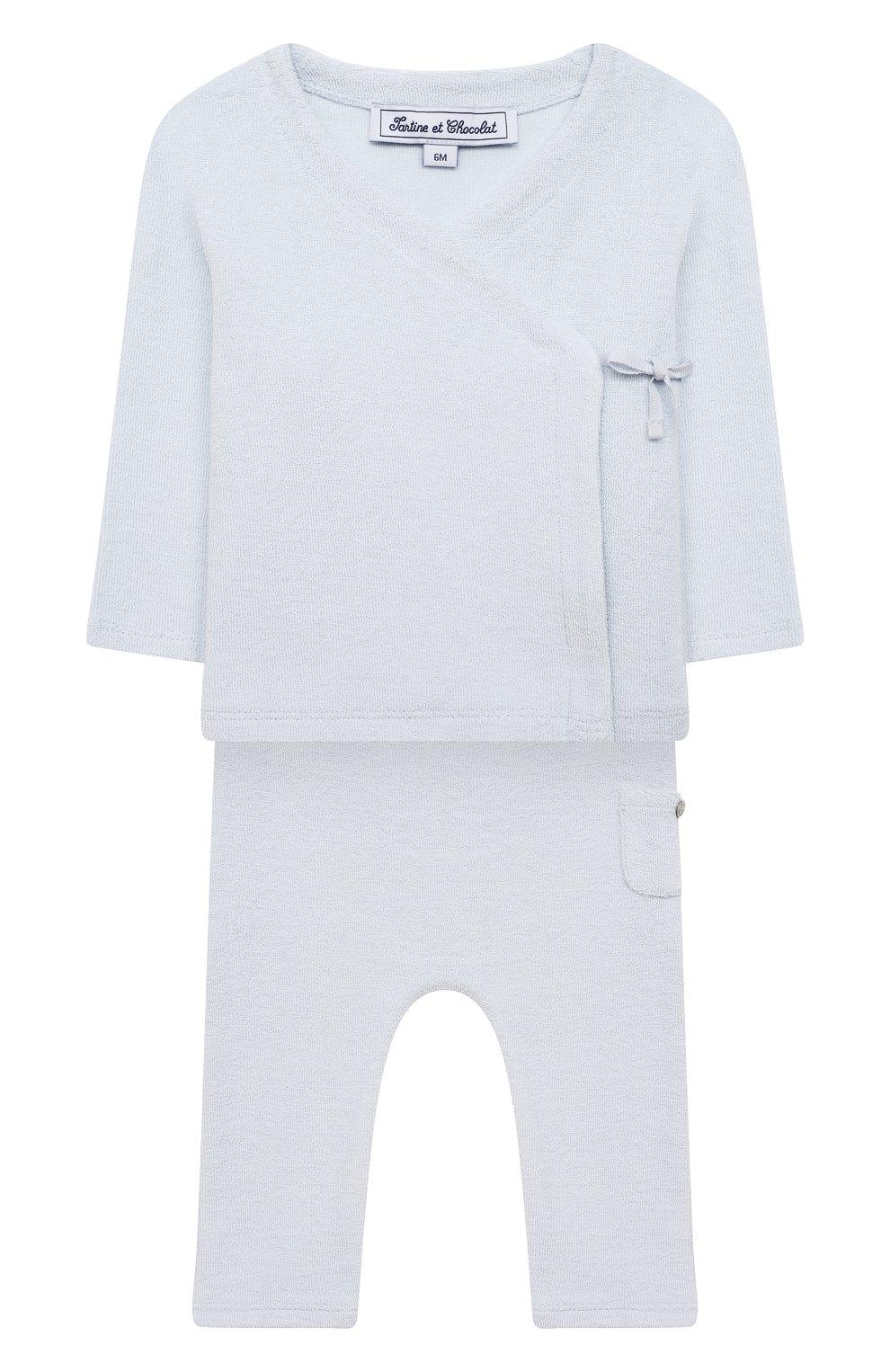 Детский комплект из кардигана и брюк TARTINE ET CHOCOLAT светло-голубого цвета, арт. TS36021/1M-1A   Фото 1