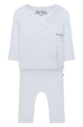Детский комплект из кардигана и брюк TARTINE ET CHOCOLAT светло-голубого цвета, арт. TS36021/1M-1A | Фото 1