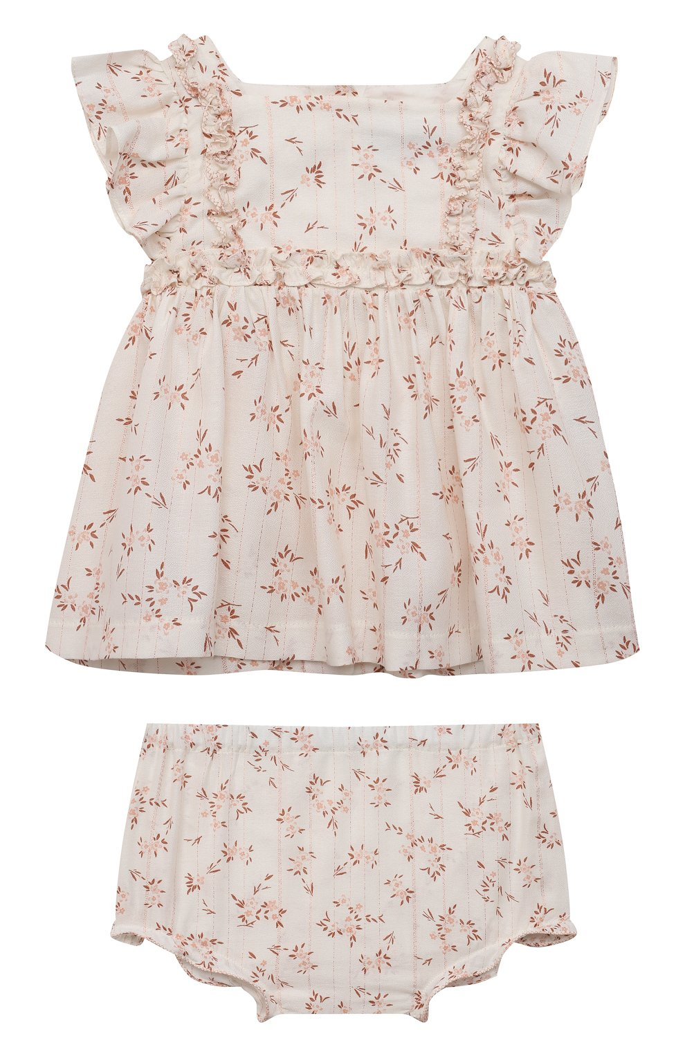 Детский комплект из блузы и шорт TARTINE ET CHOCOLAT белого цвета, арт. TS37021/1M-9M | Фото 1