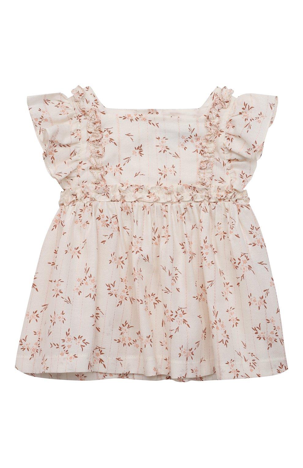 Детский комплект из блузы и шорт TARTINE ET CHOCOLAT белого цвета, арт. TS37021/1M-9M | Фото 2