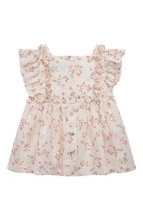 Детский комплект из блузы и шорт TARTINE ET CHOCOLAT белого цвета, арт. TS37021/1M-9M | Фото 3