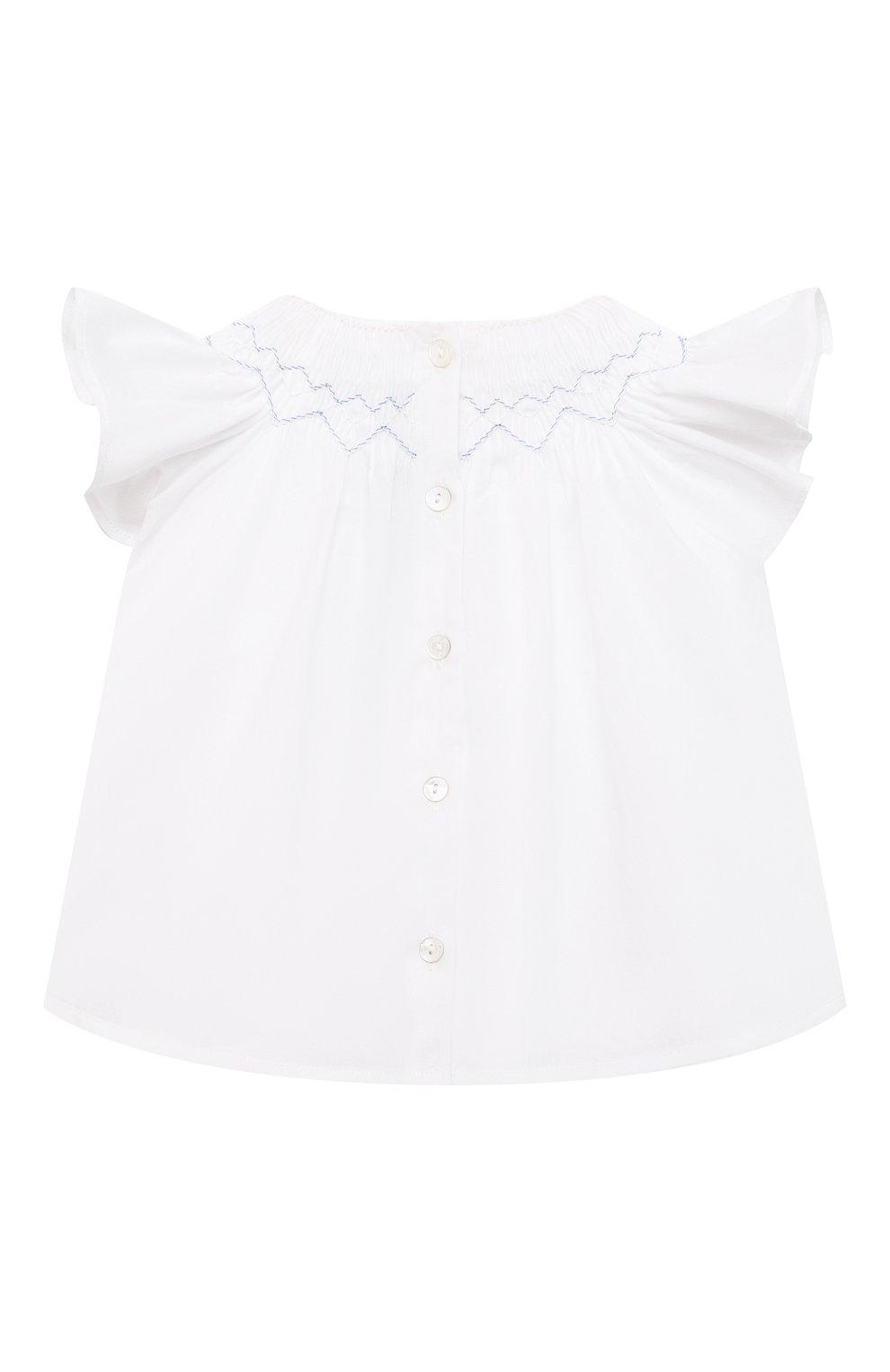 Детский комплект из блузы и шорт TARTINE ET CHOCOLAT белого цвета, арт. TS37031/1M-9M | Фото 3