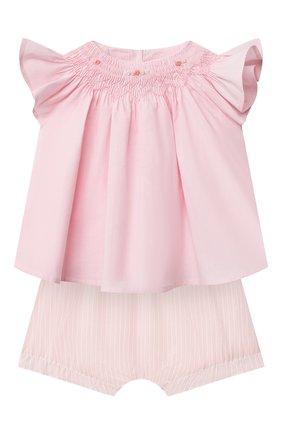 Детский комплект из блузы и шорт TARTINE ET CHOCOLAT светло-розового цвета, арт. TS37031/1M-9M | Фото 1