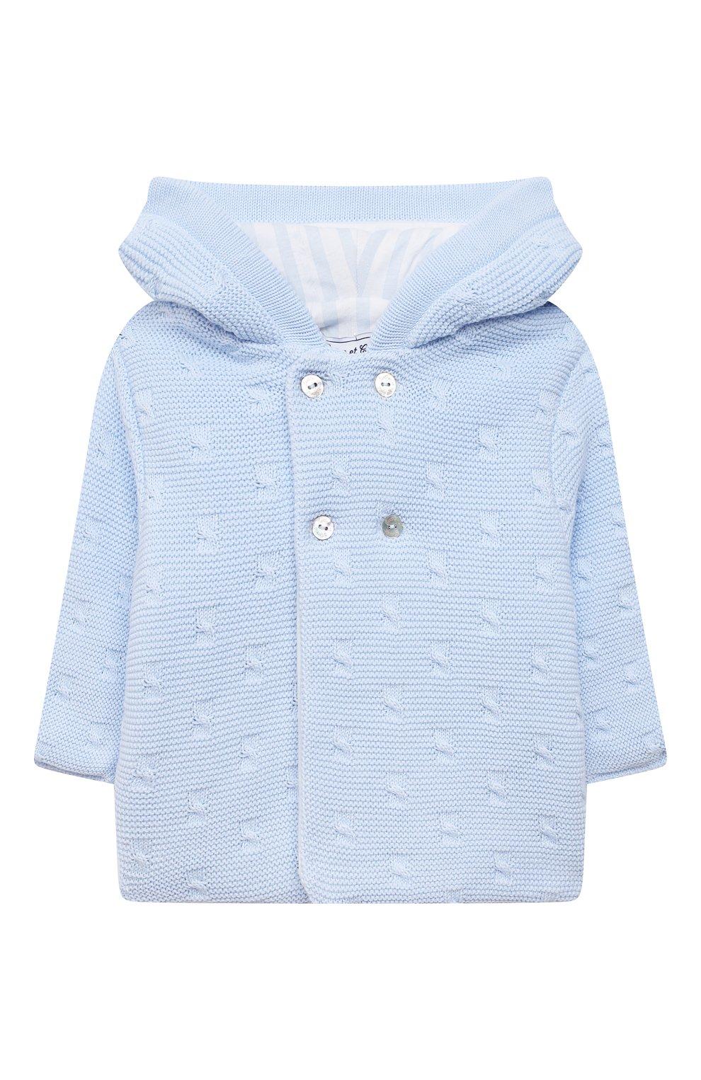 Детского хлопковая куртка TARTINE ET CHOCOLAT светло-голубого цвета, арт. TS44011/1M-9M | Фото 1