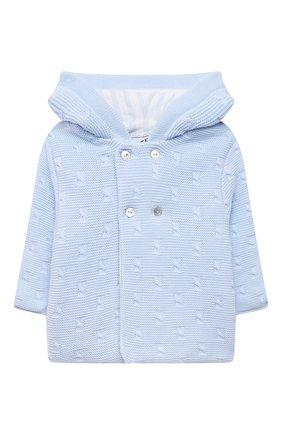 Детского хлопковая куртка TARTINE ET CHOCOLAT светло-голубого цвета, арт. TS44011/1M-9M   Фото 1