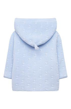 Детского хлопковая куртка TARTINE ET CHOCOLAT светло-голубого цвета, арт. TS44011/1M-9M   Фото 2