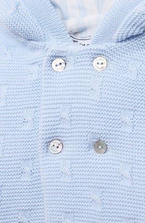 Детского хлопковая куртка TARTINE ET CHOCOLAT светло-голубого цвета, арт. TS44011/1M-9M | Фото 3