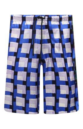 Мужские шорты из вискозы DRIES VAN NOTEN синего цвета, арт. 211-20945-2069   Фото 1
