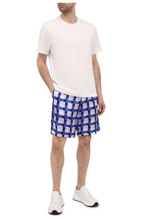 Мужские шорты из вискозы DRIES VAN NOTEN синего цвета, арт. 211-20945-2069   Фото 2