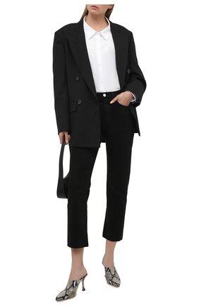Женские кожаные мюли rya 90 JIMMY CHOO светло-серого цвета, арт. RYA 90/NKE | Фото 2