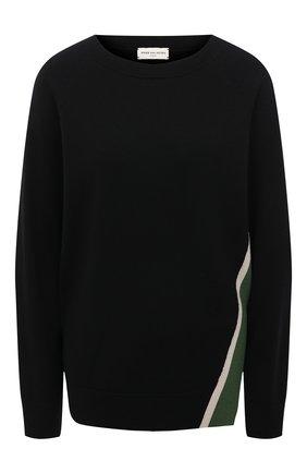 Женский шерстяной пуловер DRIES VAN NOTEN черного цвета, арт. 211-31290-2701 | Фото 1