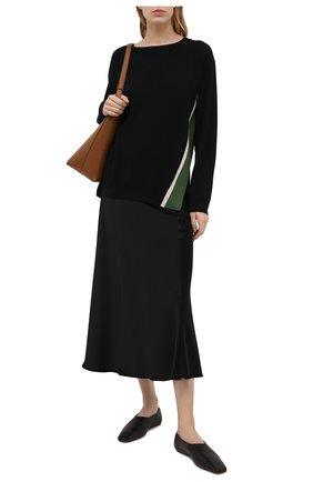 Женский шерстяной пуловер DRIES VAN NOTEN черного цвета, арт. 211-31290-2701 | Фото 2