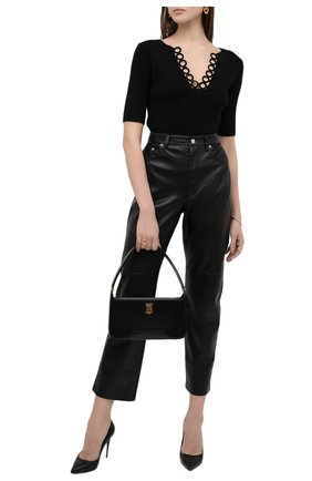 Женский хлопковый пуловер DRIES VAN NOTEN черного цвета, арт. 211-31250-2705 | Фото 2