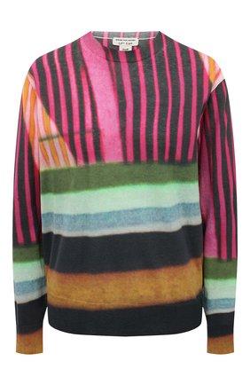 Женский хлопковый пуловер DRIES VAN NOTEN розового цвета, арт. 211-31204-2708 | Фото 1