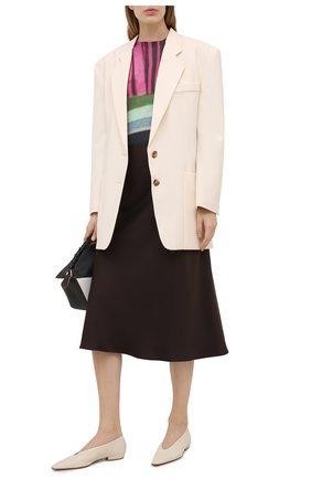 Женский хлопковый пуловер DRIES VAN NOTEN розового цвета, арт. 211-31204-2708 | Фото 2