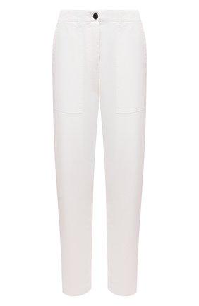 Женские хлопковые брюки DRIES VAN NOTEN белого цвета, арт. 211-30939-2280 | Фото 1