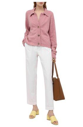 Женские хлопковые брюки DRIES VAN NOTEN белого цвета, арт. 211-30939-2280 | Фото 2