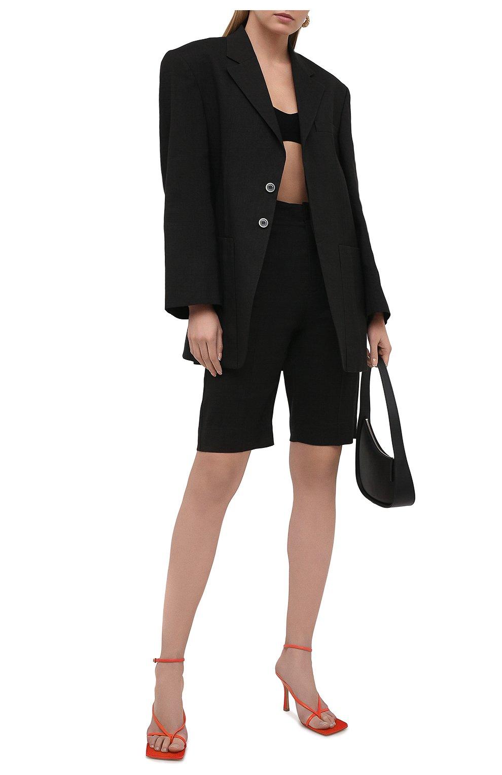 Женские шорты JACQUEMUS черного цвета, арт. 211PA06/103990 | Фото 2