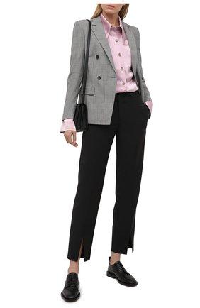 Женский хлопковый жакет BOSS черно-белого цвета, арт. 50445585 | Фото 2