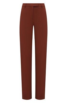 Женские хлопковые брюки BOSS коричневого цвета, арт. 50447307 | Фото 1