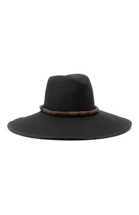 Женская шляпа BRUNELLO CUCINELLI черного цвета, арт. MCAP90126 | Фото 1