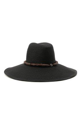 Женская шляпа BRUNELLO CUCINELLI черного цвета, арт. MCAP90126 | Фото 2
