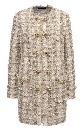 Женское пальто DOLCE & GABBANA бежевого цвета, арт. F0AG6Z/FMMCY | Фото 1