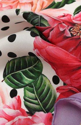 Женский шелковый платок DOLCE & GABBANA сиреневого цвета, арт. FN093R/GDV61   Фото 2